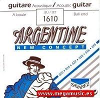 CUERDAS GUITARRA ACUSTICA - Savarez (1610) Argentine/Extra Lite (Juego Completo 010/045B)