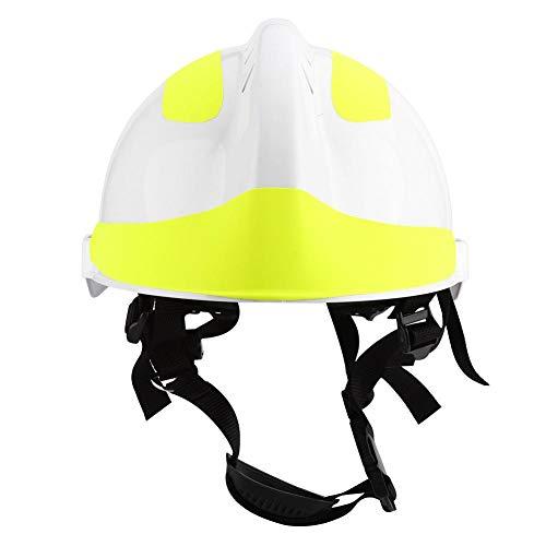 Hopcd Casco de Rescate, Cascos Protectores Profesionales de Bomberos / 53cm-63cm / 20.9-24.8in Cascos de Seguridad Ajustables Anti-Impacto para mineros, Barcos, Trabajadores petroleros