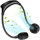 Personal Neck Fan, Portable Hand Free Usb Fan Rechargeable Hanging Wearable Neckband Fans 5000mAh Battery Operated Camping Travel Indoor Outdoor Necklace Fan