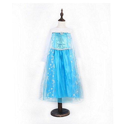 Snow Queen Elsa Fever Robe pour filles – Costume de princesse pour enfants par conte de fées