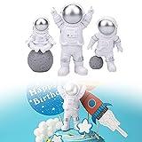 Estatua Astronauta, 3 Piezas...