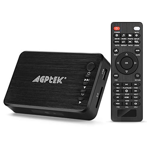 AGPTEK Media Player HDMI VGA Video Player USB OTG SD AV TV AVI RMVB