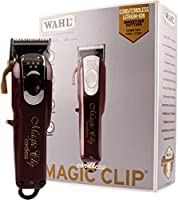 WAHL Magic Clip Cordless Clipper, Red/Silver, 1 Count (Pack of 1), 13N904