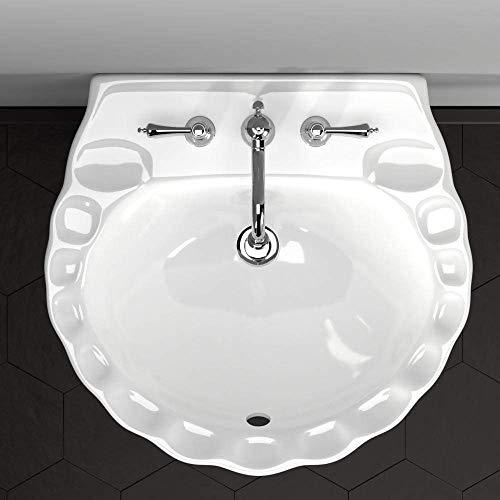 Alma Vitreous China Pedestal Sink