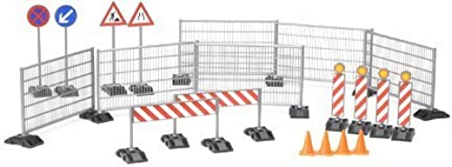 Bruder Construction Set  Railings, Site Signs and Pylons by Bruder