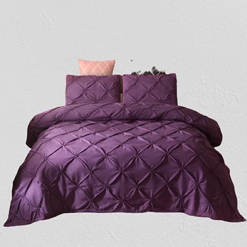 Ropa De Cama Textiles para El Hogar Funda Nórdica De Color Liso Funda De Almohada Ambiente Simple Duradero Y Fácil De Limpiar 220x240cm