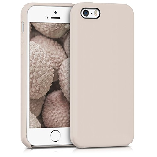 kwmobile Funda Compatible con Apple iPhone SE (1.Gen 2016) / 5 / 5S - Carcasa de TPU para móvil - Cover Trasero en Beige