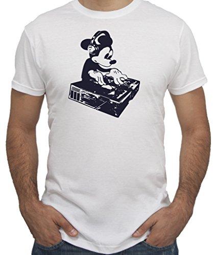 New Indastria T-Shirt Topolino Dee Jay - by Uomo-M-Bianca