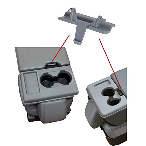 ECOTRIC Center Console Armrest Jump Seat Lid Latch Compatible with 2010-2018 Ford F150 F-150 ABS Plastic Gray