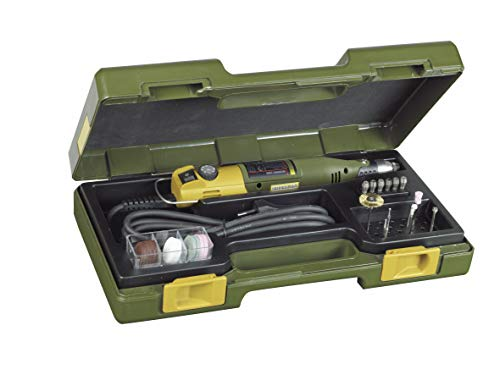 Proxxon 28430 Bohr-/Fräsgerät Micromot 230/E (mit Koffer, mit 34 Einsatzwerkzeugen, ø 37 mm, inkl. Spannzangen, Drehzahl 6.000-22.000/min)