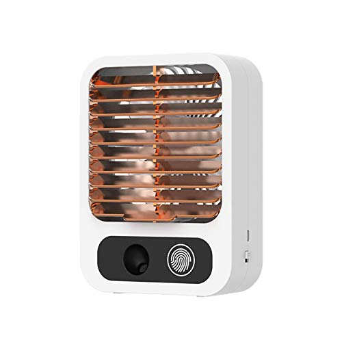 Miniventilador USB, 3 velocidades ajustables, ventilador de mesa, humidificador de agua, aire acondicionado, pequeño acondicionador para cama, oficina y estudio