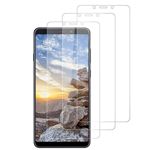 RIIMUHIR 3 Stück Panzerglas für Samsung Galaxy A9 2018, Blasenfrei, Kratzfest, Erweiterte HD-Klarheit, Nahtlose Berührungsempfindlichkeit Samsung Galaxy A9 2018 gehärtetes Glas