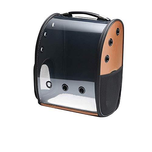 GBY Huisdierententas, beweegbare, transparante rugzak met capsules, ademende huisdiertas voor transport, 42 x 24 x 35 cm, size, bruin
