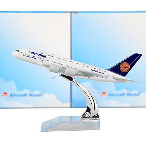 Lose Fun Park 1: 400 Metallflugzeugmodelle Lufthansa A380 16 cm Display Flugzeugmodelle für Geschenk oder Heimtextilien