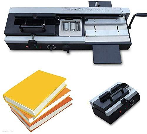 A4 Paper Desktop Hot Melt Glue Binding Machine Wireless Book Paper Binder W/Demo Video Manual Hot Glue Book Binding Binder Machine for Binding Books Albums Notebook