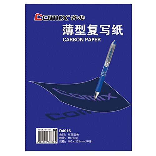 """Comix D4016 copy paper duplicating paper 100sheets color : blue 7.28""""x10"""" 185x255mm"""