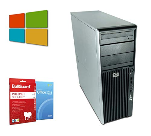 Workstation Tower PC Computer   Intel Xeon-W3550@ 3,06GHz   24GB   256GB SSD   DVD-Brenner   Nvidia Quadro FX 1800 Grafikkarte   Windows 10 Pro   BullGuard   SoftMaker Office (Generalüberholt)