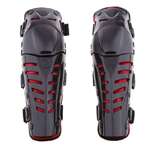 ZHBH Rodilleras para Motocicleta, Rodilleras Protectoras para Motocicleta Motocicleta Motocross Bicicleta Rodilleras para Bicicleta Rodilleras, Protectores Protectores Protectores Rojos para prot