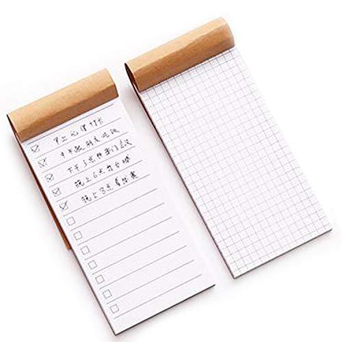 チェックリスト 項目 TO DO リスト 方眼 メモ 仕事 スケジュール プラン メッセージ カード ノート やること しっかり 管理 メモ帳 2個 セット