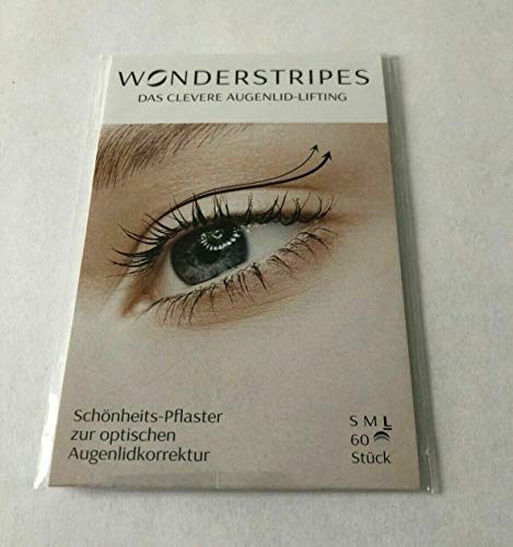 Wonderstripes Augenlid Pflaster, transparent, Größe L