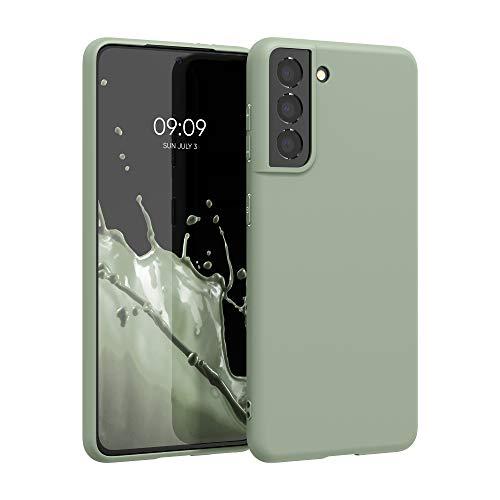 kwmobile Hülle kompatibel mit Samsung Galaxy S21 - Handyhülle - Handy Case in Graugrün