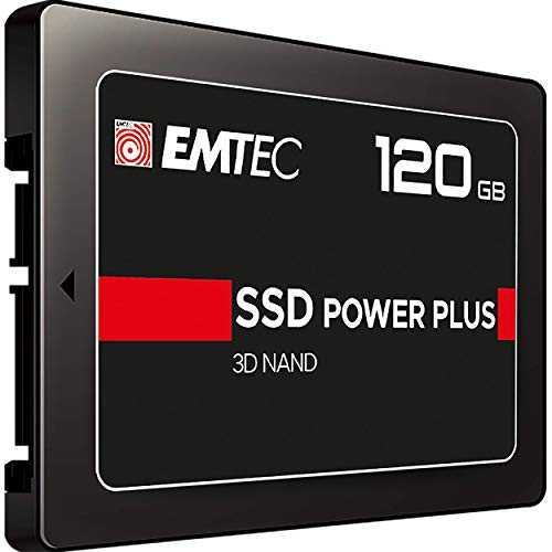 Emtec X150 Power Plus Unidad de Estado sólido 2.5' 120 GB Serial ATA III - Disco Duro sólido (120 GB, 2.5', 520 MB/s, 6 Gbit/s) Negro