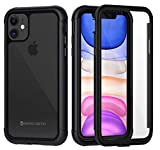 seacosmo iPhone 11 Hülle, Stoßfest Handyhülle iPhone 11 360 Grad Rugged Hülle mit eingebautem Bildschirmschutz für iPhone XI, Schwarz