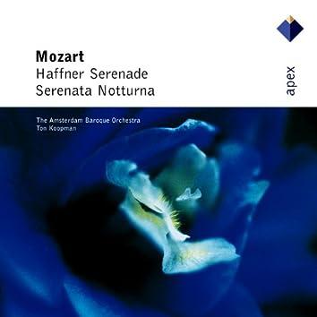 Mozart : Serenades Nos 6, 'Serenata notturna' & 7, 'Haffner'  -  Apex