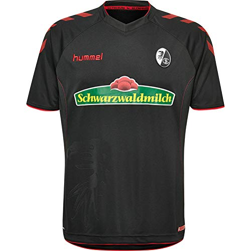Hummel Erwachsene SCF Away SS 18/19 Trikot, Black/True Red, S