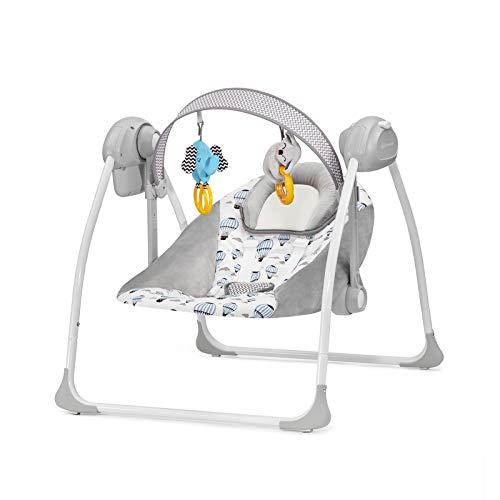 potente para casa Chaise longue para niños Kindercraft FLO, columpio, 3 velocidades, 8 melodías, verde