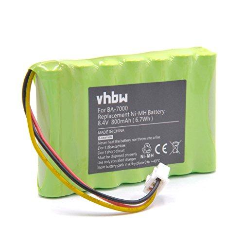 vhbw NiMH Akku 800mAh (8.4V) für Etiketten Drucker Brother P-Touch PT-7600, PT-7600VP, PT7600, PT7600VP wie BA-7000, BA7000