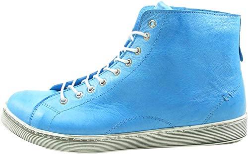 Andrea Conti Damen 0341500 Hohe Sneaker, Blau, 43 EU