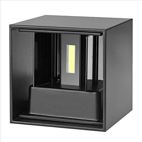 Moderne eenvoudige kubus-wandlamp, verstelbaar, led, buitenverlichting, waterdicht, aluminium, wandlamp, tuin, wandlamp, zwart, 9 W, dimbaar, 3000 K