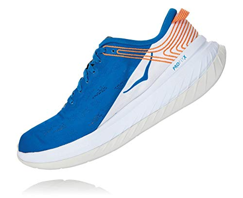 Hoka One One Men's Carbon X Running Shoe, Imperial Blue/White, 10 D(M) US