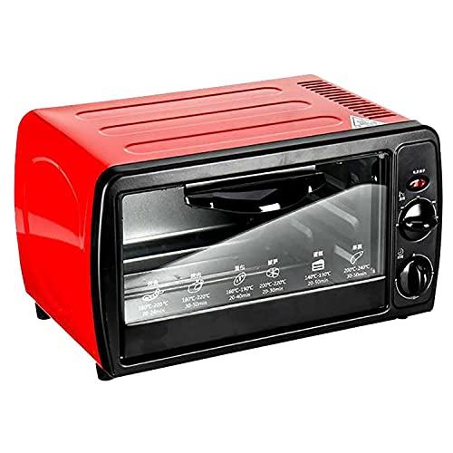 Mini Horno DoméStico, Mini Horno EléCtrico Compacto De 12 Litros, Temporizador De 60 Minutos, Control De Temperatura De 0 ° C A 230 ° C, Baja Potencia 200 W, Cocina Deliciosa Comida Para Usted
