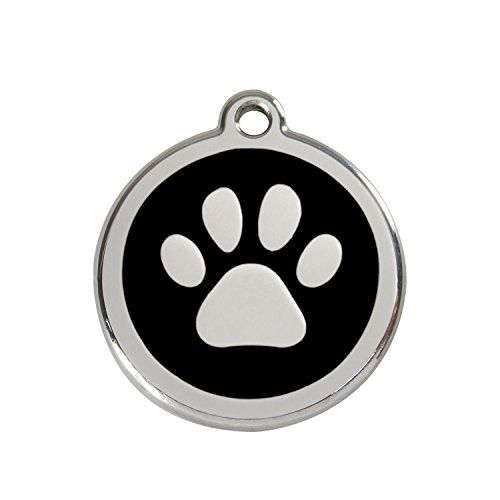 Red Dingo Hundemarke Pfote schwarz 20mm