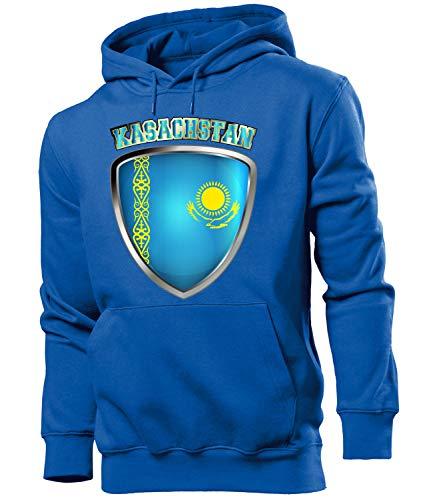 Golebros Kasachstan Kazakhstan Fussball Fanhoodie Fan Männer Herren Hoodie Pulli Kapuzen Pullover Fanartikel Trikot Look Geschenke Flagge zubehör Fahne fußball Fanartikel Oberteil Flag Artikel Outfit
