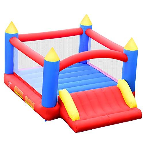 COSTWAY Castillo Hinchable para Niños Parque Infantil 3x2x2m Centro de Actividades para Niños para Patio Jardín Interior y Exterior