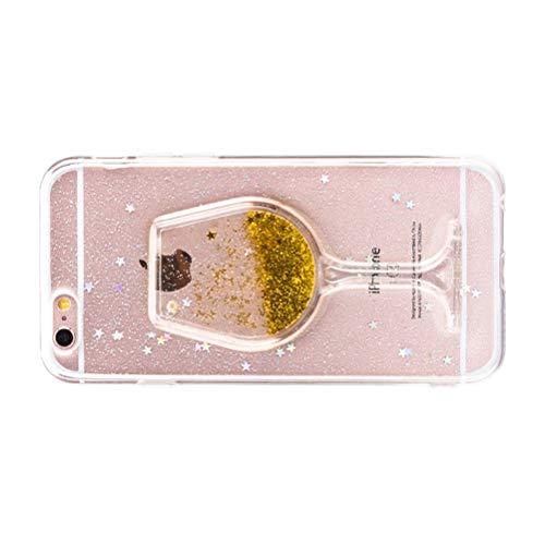 ibasenice Carcasa para iPhone 6 / 6S, Cubierta Protectora a Prueba de choques Suave Creativa del teléfono de la PC de la Copa de Vino de Quicksand Shell Protector para iPhone 6 / 6S