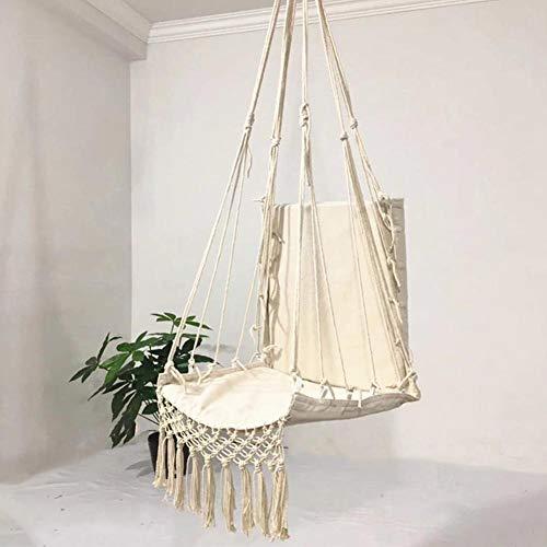 Kwastje Hangende Schommelstoel Hangmat Stoel Schommelstoel Canvas Comfortabele Hangstoel voor Binnen Buiten Tuin Tuin Veranda Patio Binnenplaats Gebruik