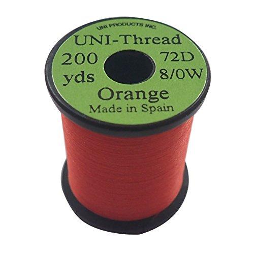ティムコ(TIEMCO) フライタイイング UNI ユニスレッド 8/0 200ヤード オレンジ