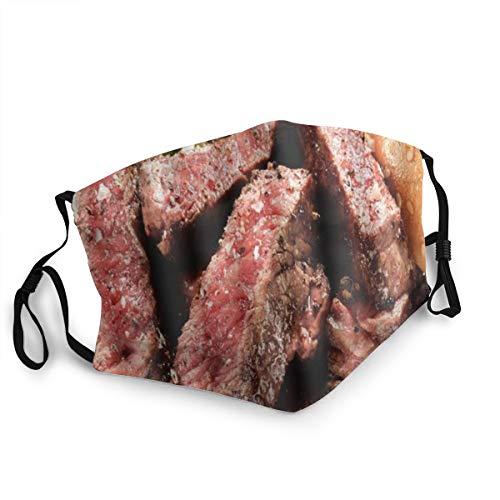 TARTINY Prime Black Angus Steak Burger Mittlerer seltener Grad der Steak Doneness Grafikdruck Staubwaschbarer wiederverwendbarer Mund Warmes winddichtes Baumwollgesicht