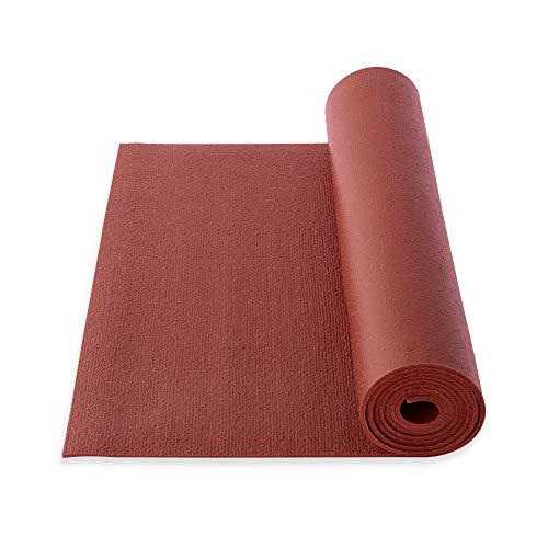 Yogibato Yoga Tappetino Studio PVC Oekotex 100 - Prodotto in Germania – Antisdrucciolo e Senza inquinanti - Tappetino per Ginnastica Pilates Sport Fitness - [183x60x0,45cm] - Bordeaux