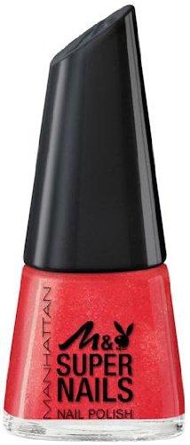 Manhattan Limited Edition Manhattan & Playboy Super Nails Nail Polish Nr. 03 Redtastic Farbe: Rot mit Glitzer Inhalt: 11ml Nagellack Nail Polish