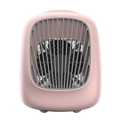 SETSCZY Mini Aire Acondicionado Portátil para El Hogar, Enfriador De 7 Colores LED USB, Ventilador De Refrigeración De Aire Recargable para Oficina Y Habitación,Rosado