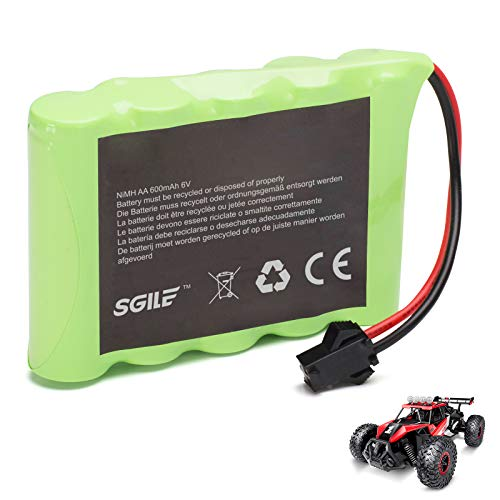 SGILE Batteria Ricaricabile per Auto Telecomandata