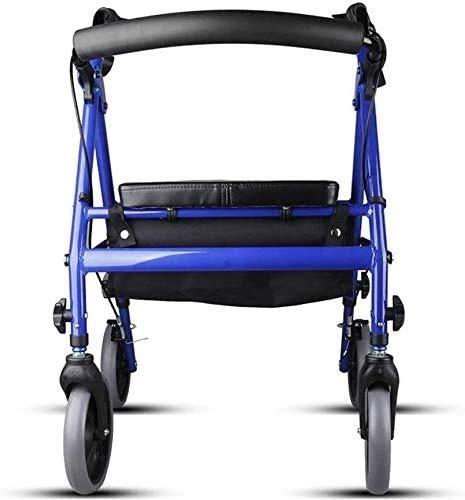 QIYUE Verstelbare Folding Aluminium Rollator/Walker Met Dual Braking System, All Terrain PVC wielen met luchtbanden en etui