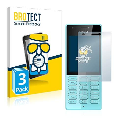 BROTECT Entspiegelungs-Panzerglasfolie kompatibel mit Nokia 216 (3 Stück) - Anti-Reflex Panzerglas Schutz-Folie Matt