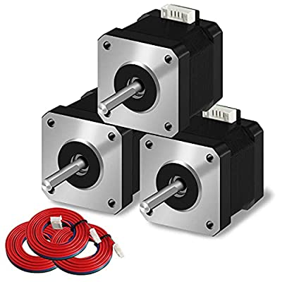 SIMAX3D Nema 17 stepper motor 3pcs 42x38mm 1.5A 2 phase 4 wires 1.8 degrees with 39.3 inch cable for Creality CR-10 10S Ender 3 3D printer/CNC extruder and Y-axis