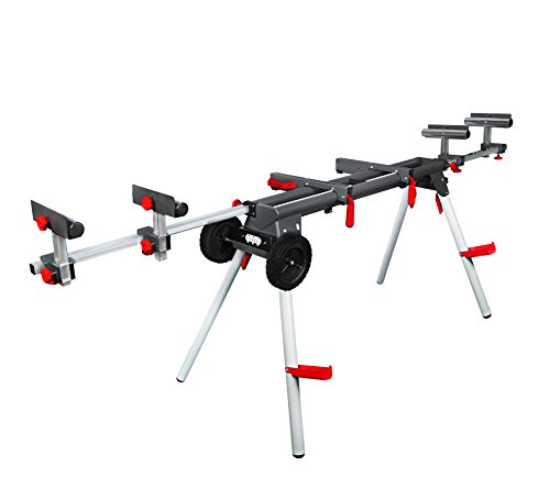 PROTOCOL Equipment Professional Miter Saw Workstation, Universal Mount, Durable Steel Construction, Portable, Supports 500 lbs.
